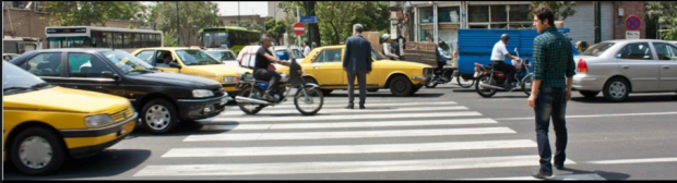 Iran Teheran pedestrian crossing